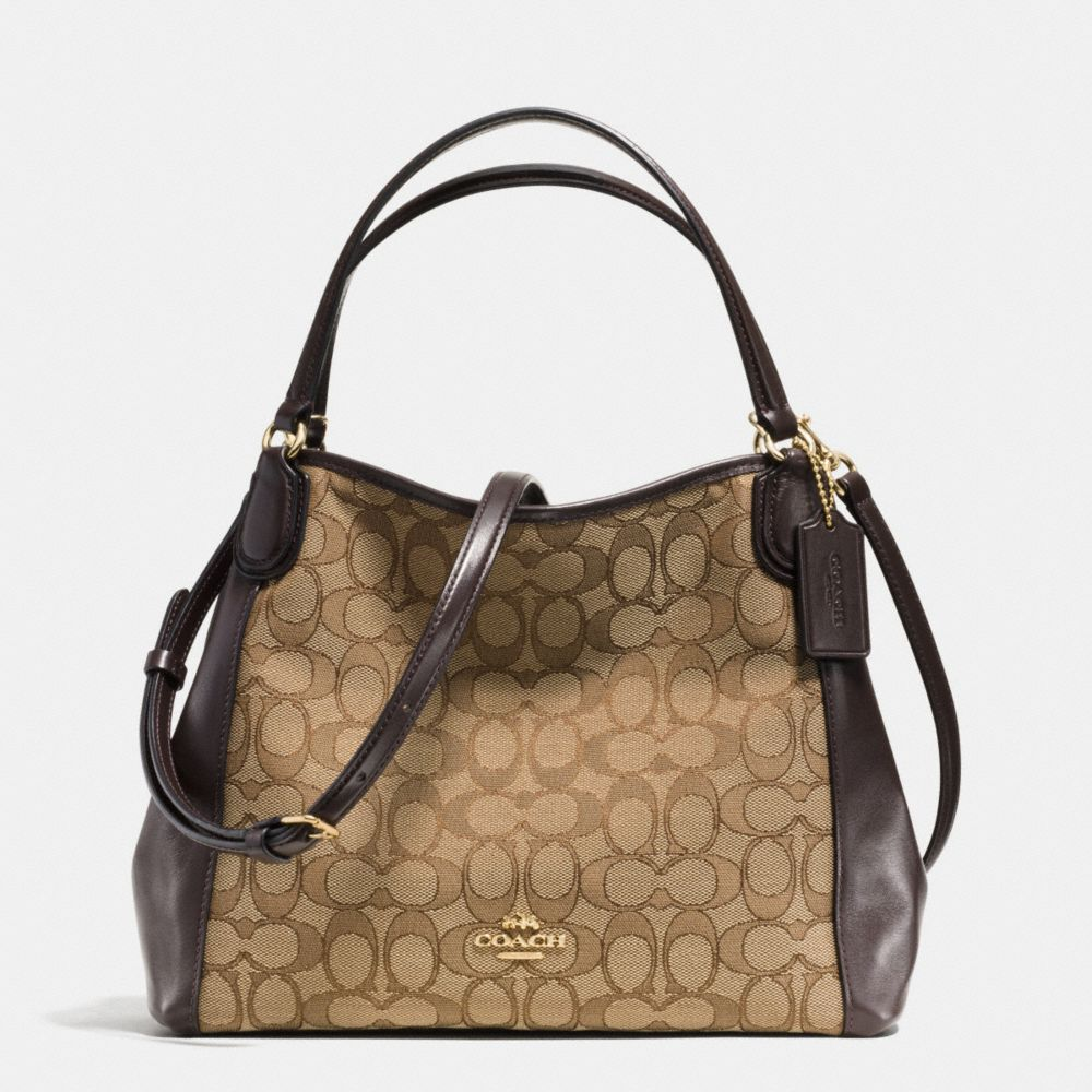 Edie Shoulder Bag 28 in Signature Jacquard