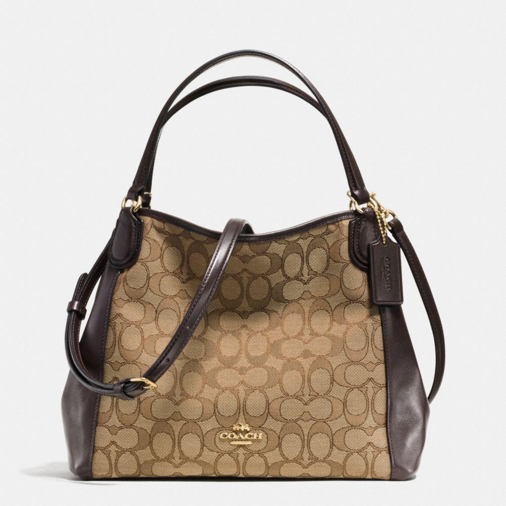 Edie Shoulder Bag 28 in Signature Jacquard