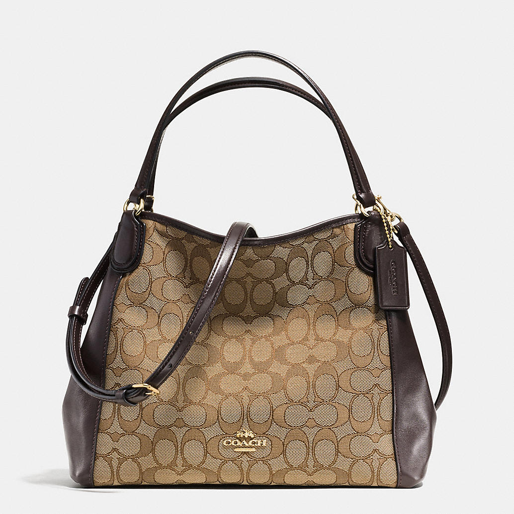 COACH Designer Purses | Edie Shoulder Bag 28 In Signature Jacquard