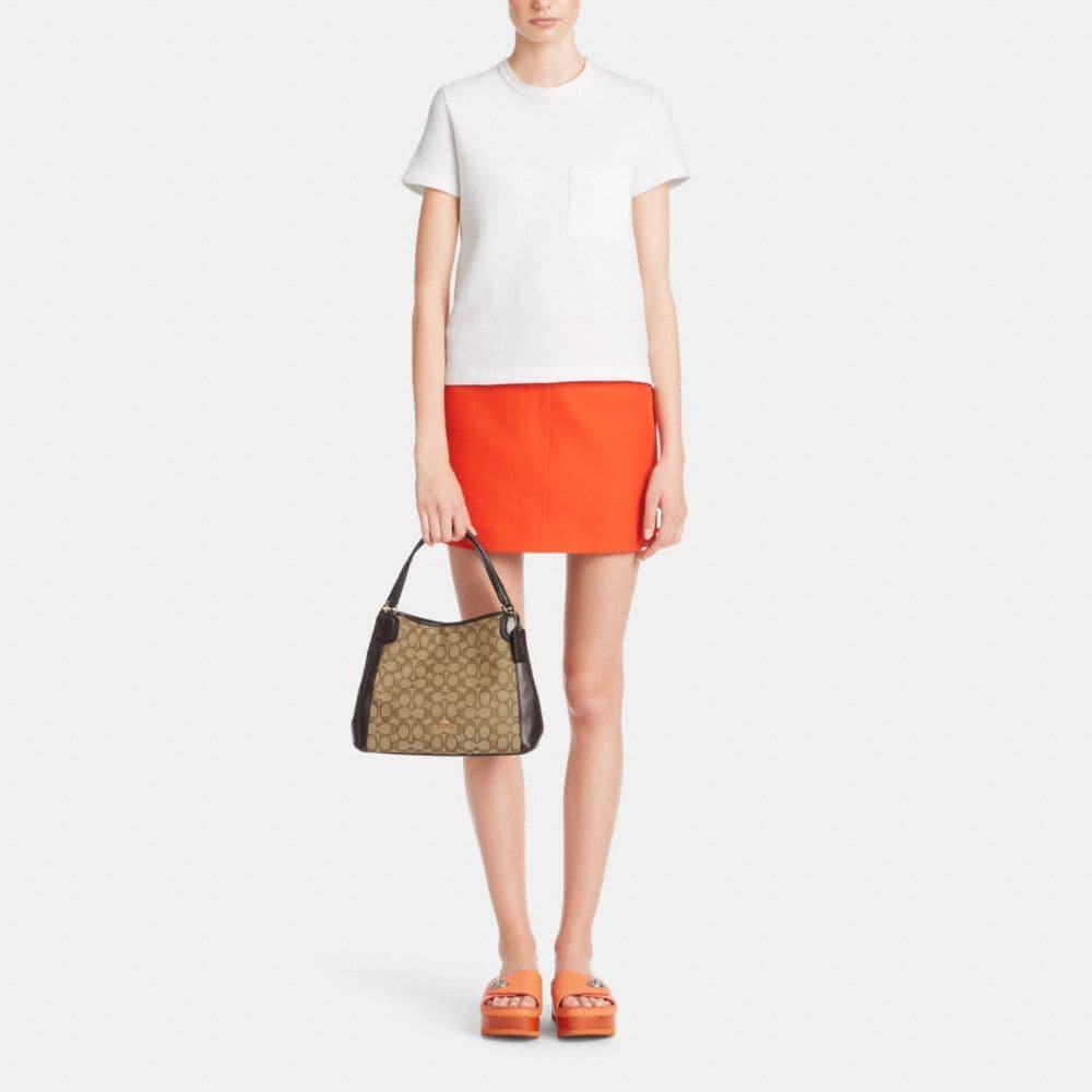 Edie Shoulder Bag 28 in Signature Jacquard - Alternate View M2