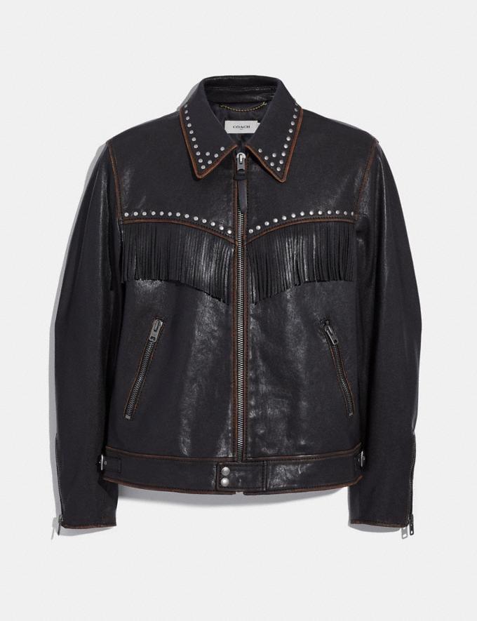 Coach Western Embellished Jacket Black