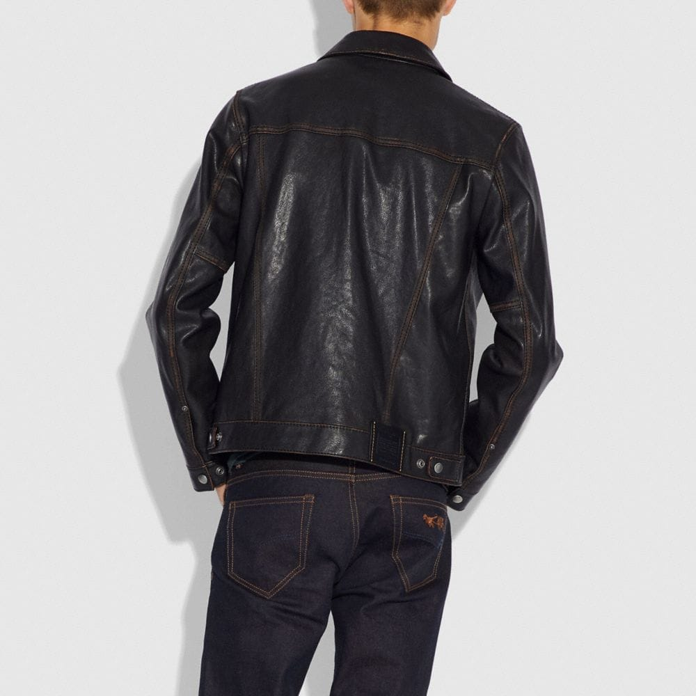 Coach Leather Jacket Alternate View 2