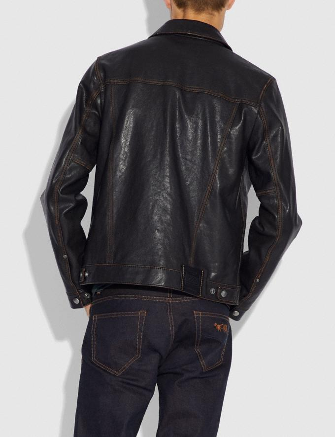 Coach Leather Jacket Black Rosewood  Alternate View 2