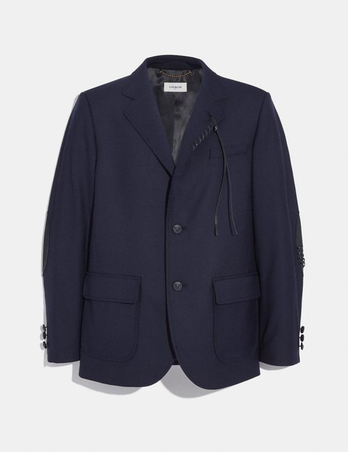 Coach Wool Blazer Navy