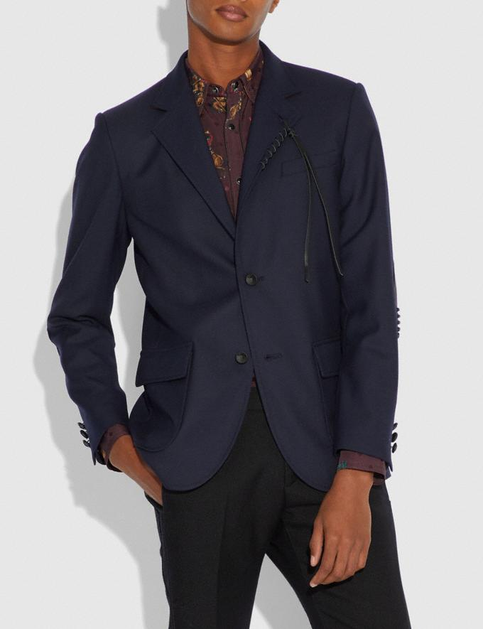 Coach Wool Blazer Navy  Alternate View 1