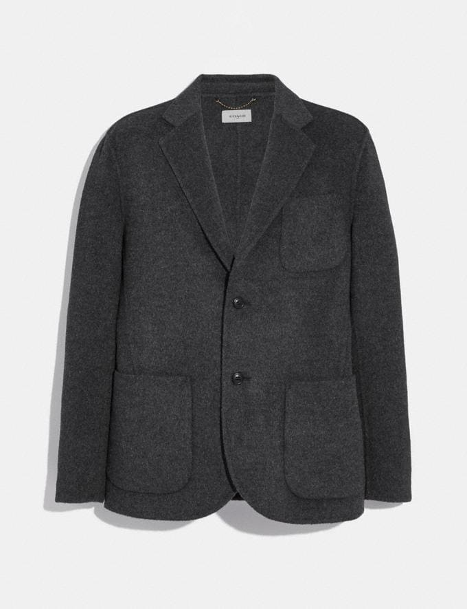 Coach Double Faced Blazer Charcoal
