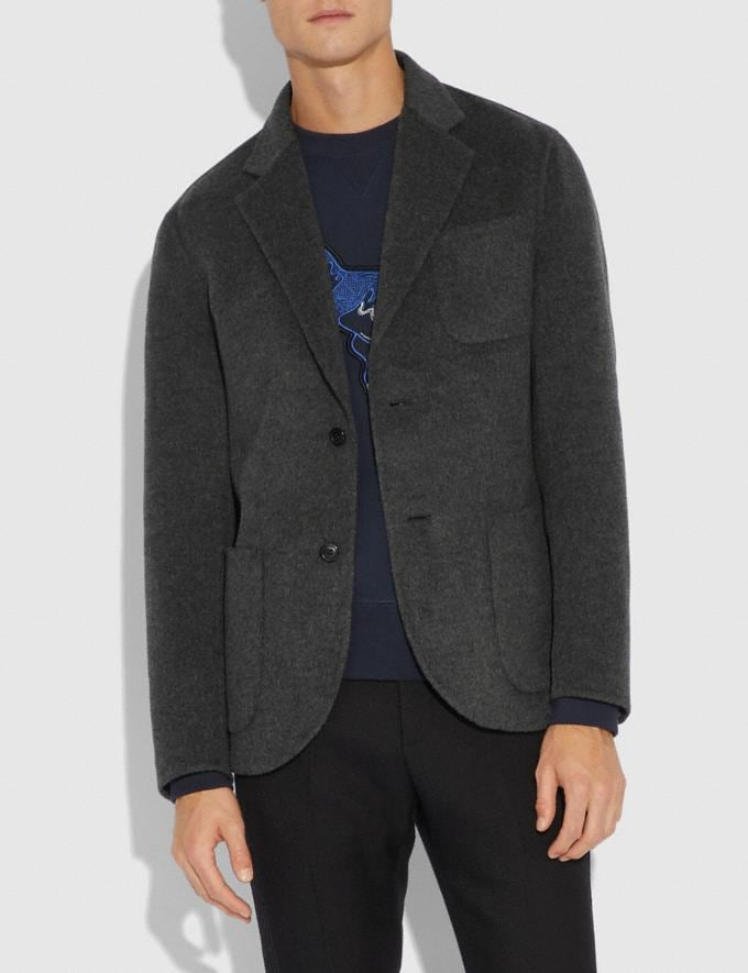 Coach Double Faced Blazer Charcoal  Alternate View 1