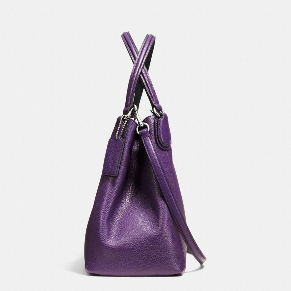 Edie 28 Shoulder Bag in Polished Pebble Leather - Autres affichages A1