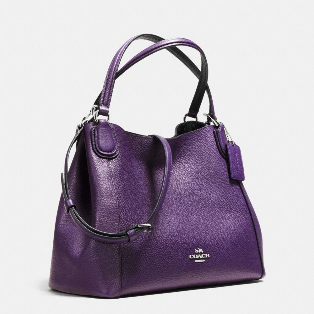 EDIE 28 SHOULDER BAG IN POLISHED PEBBLE LEATHER - Autres affichages A2