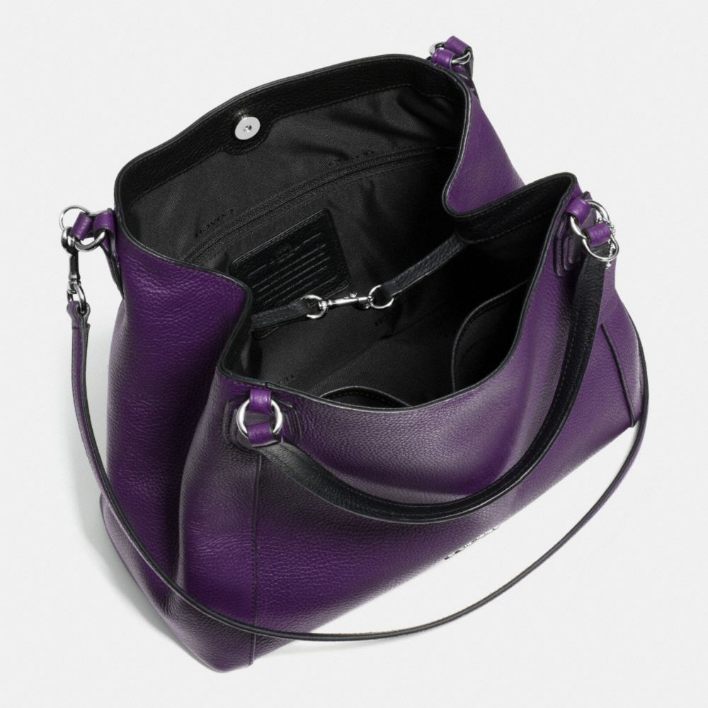 Edie 28 Shoulder Bag in Polished Pebble Leather - Alternate View A3