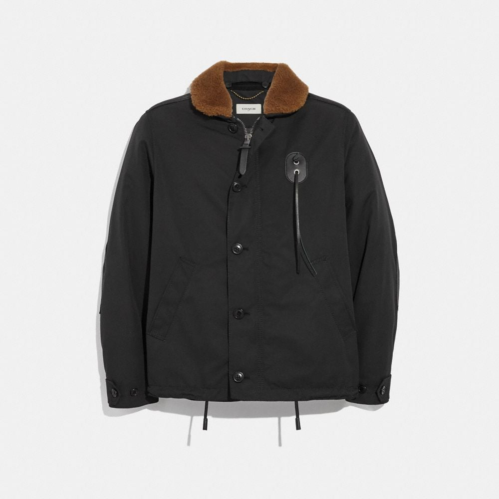 Coach Jacket With Shearling Collar