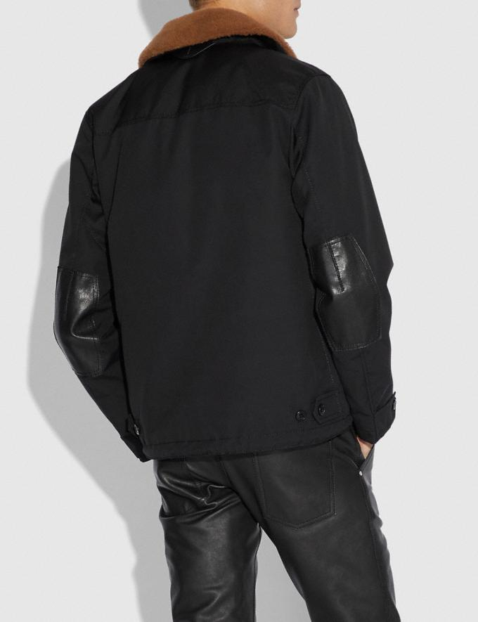 Coach Jacket With Shearling Collar Black  Alternate View 2