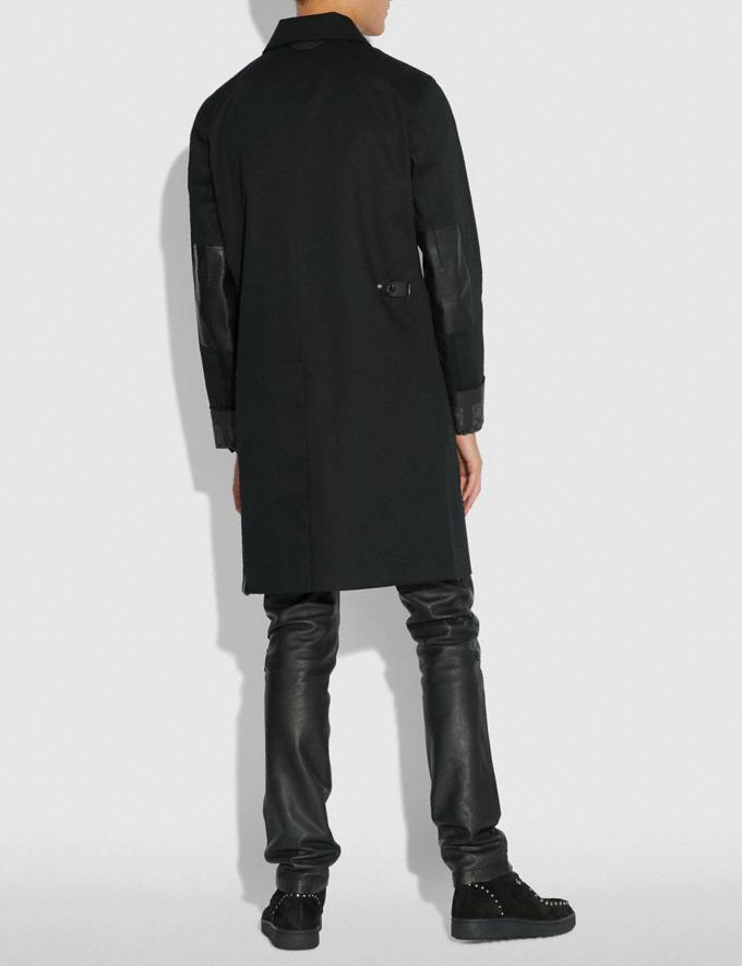 Coach Signature Overcoat Black  Alternate View 2