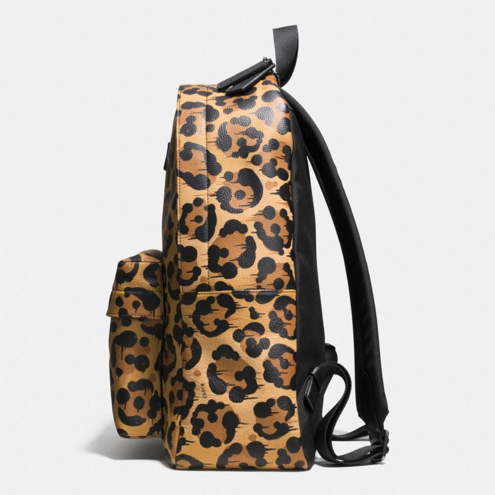 Small Campus Backpack in Wild Beast Print Leather - Autres affichages A1