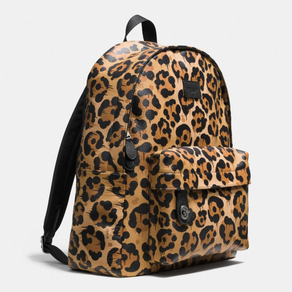 Small Campus Backpack in Wild Beast Print Leather - Alternate View A2