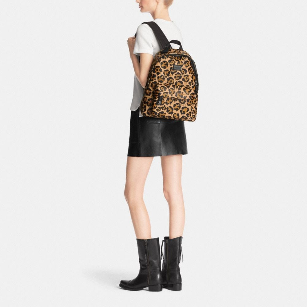 Small Campus Backpack in Wild Beast Print Leather - Alternate View M