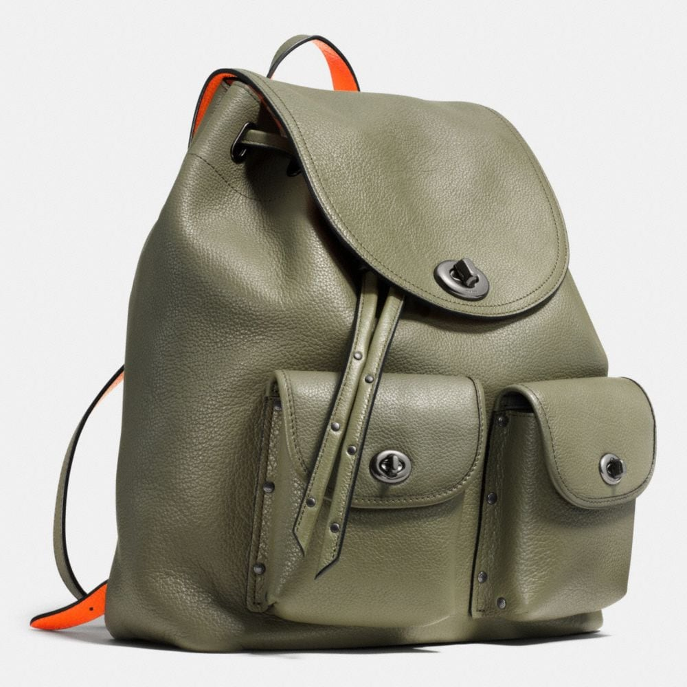 Turnlock Tie Rucksack in Neon Colorblock Leather - Alternate View A2