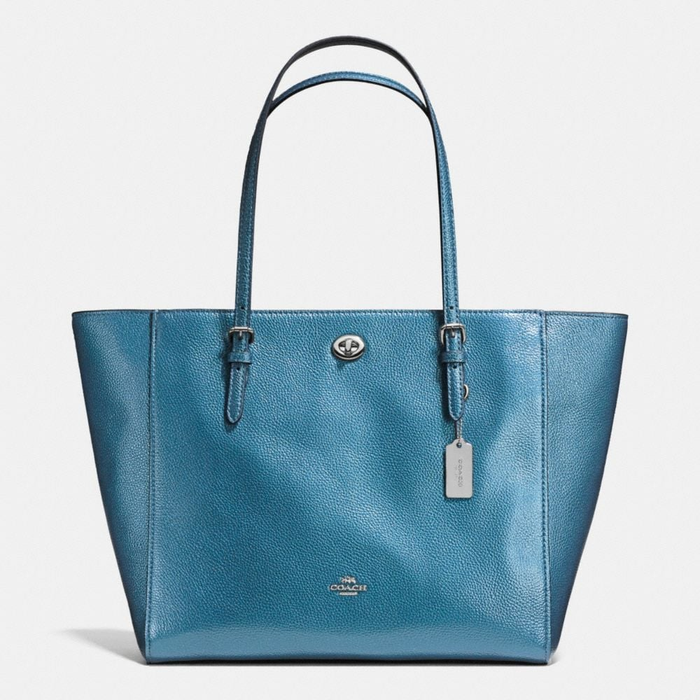 metallic blue/silver