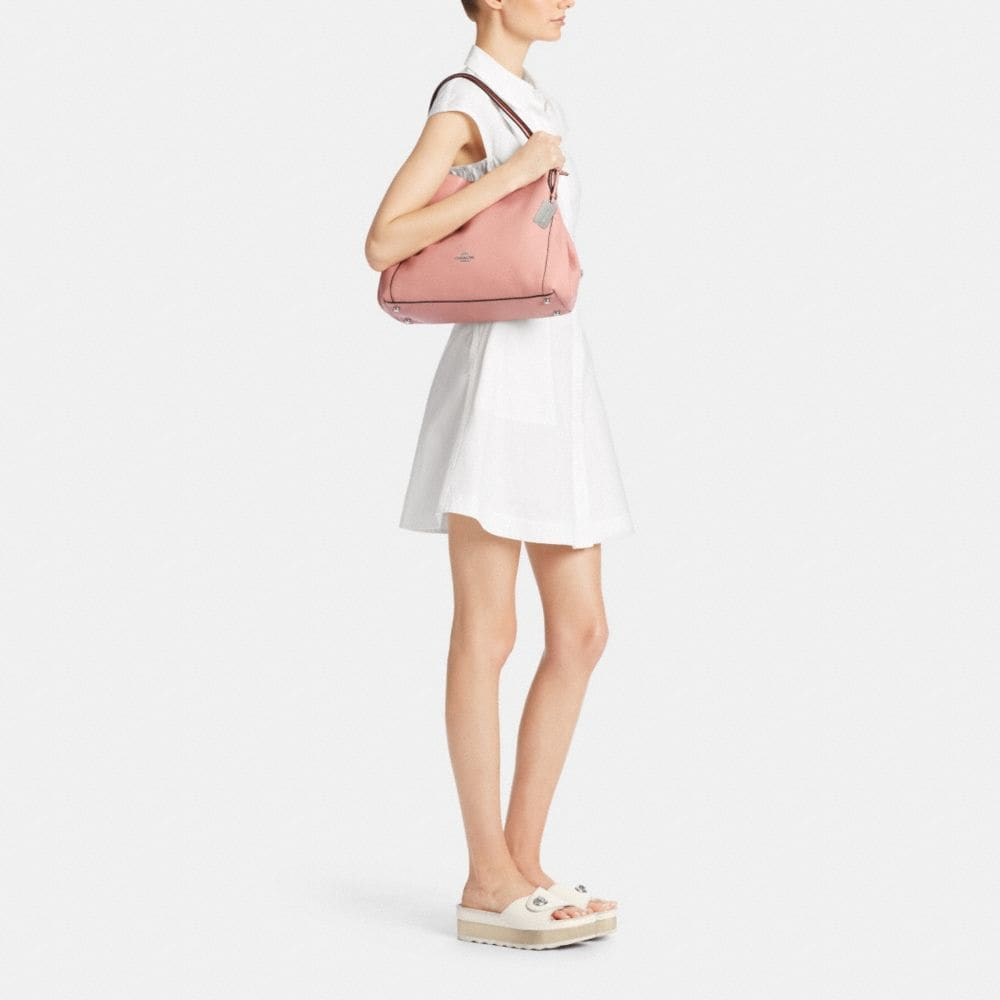 Edie Shoulder Bag 31 in Refined Pebble Leather - Alternate View M