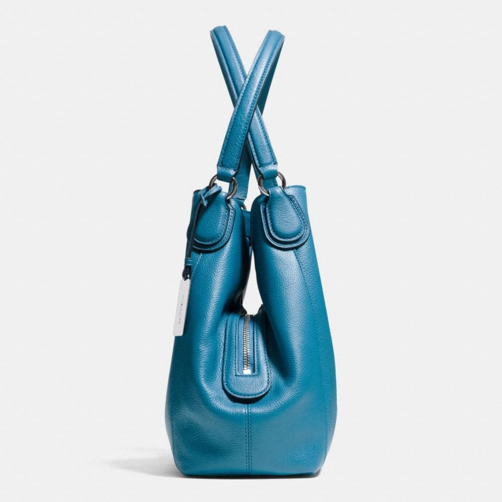 Embossed Horse and Carrage Edie Shoulder Bag 31 in Pebble Leather - Autres affichages A1