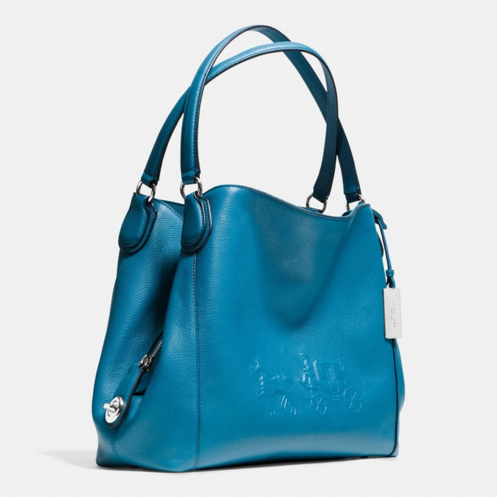 Embossed Horse and Carrage Edie Shoulder Bag 31 in Pebble Leather - Autres affichages A2
