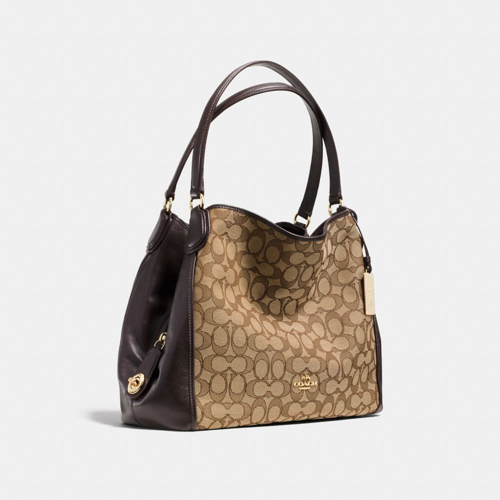 EDIE SHOULDER BAG 31 IN SIGNATURE JACQUARD - Alternate View A2