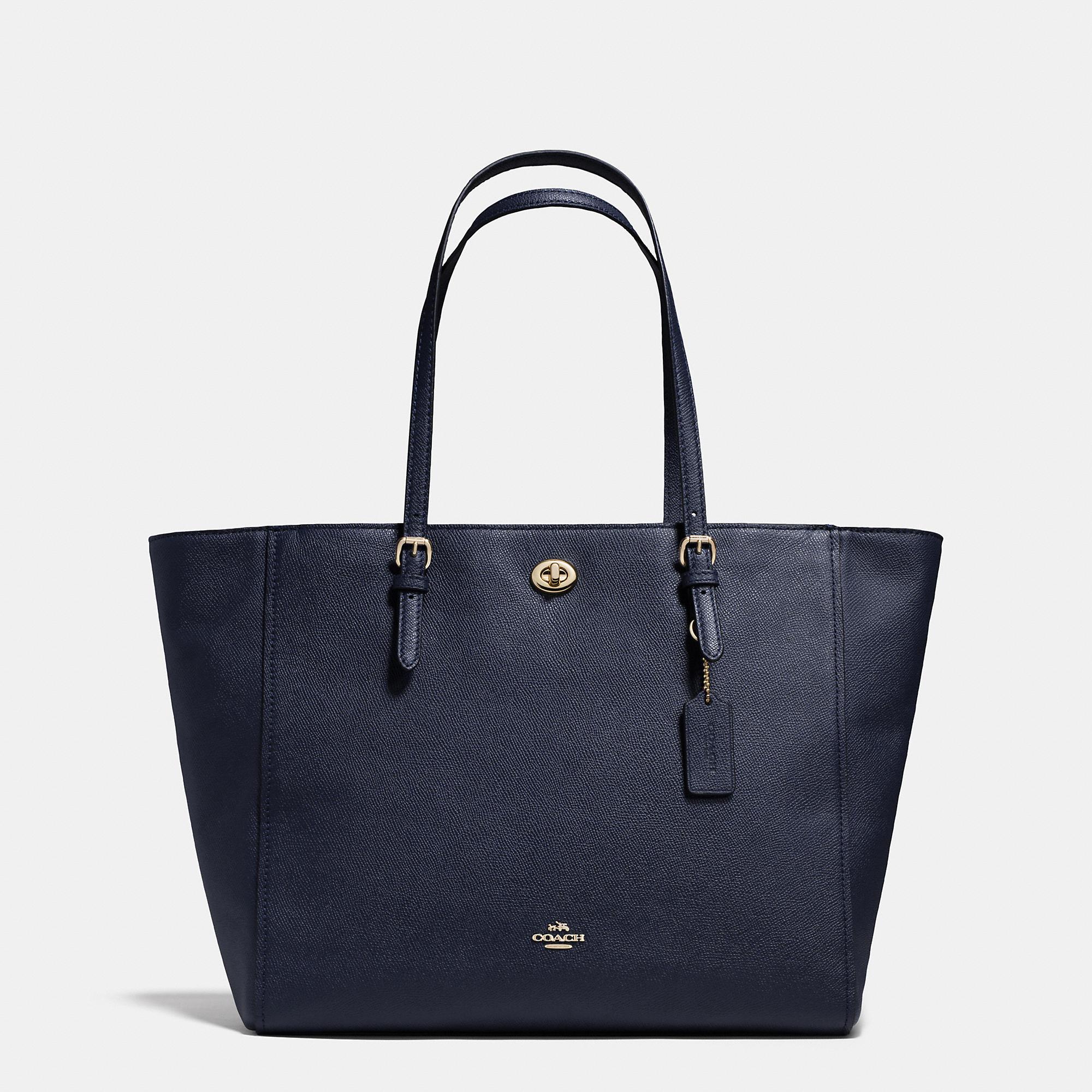 Coach Turnlock Baby Bag In Crossgrain Leather