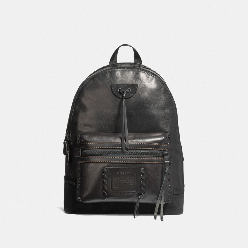 academy backpack with whipstitch
