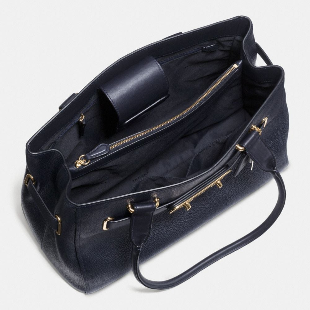 COACH SWAGGER CARRYALL IN POLISHED PEBBLE LEATHER - Alternate View A3