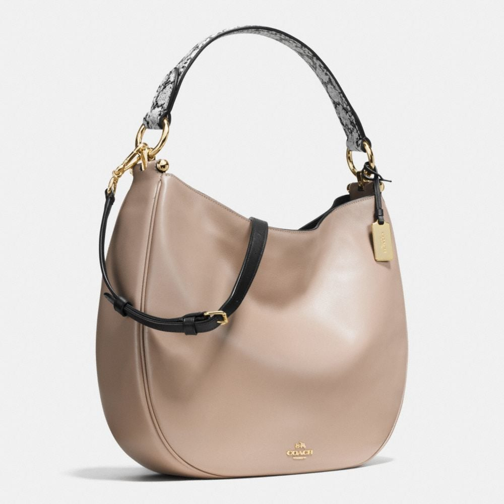 Coach Nomad Hobo in Colorblock Exotic Embossed Leather - Alternate View A2