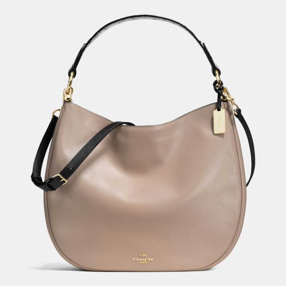 COACH NOMAD HOBO IN COLORBLOCK EXOTIC EMBOSSED LEATHER