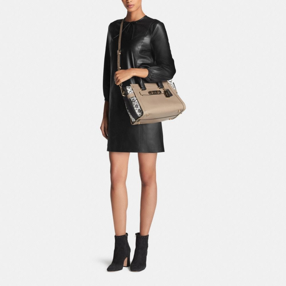 Coach Swagger in Colorblock Exotic Embossed Leather - Alternate View M