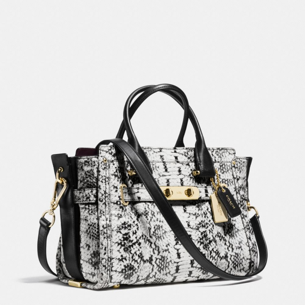 Coach Swagger 27 in Colorblock Exotic Embossed Leather - Alternate View A2