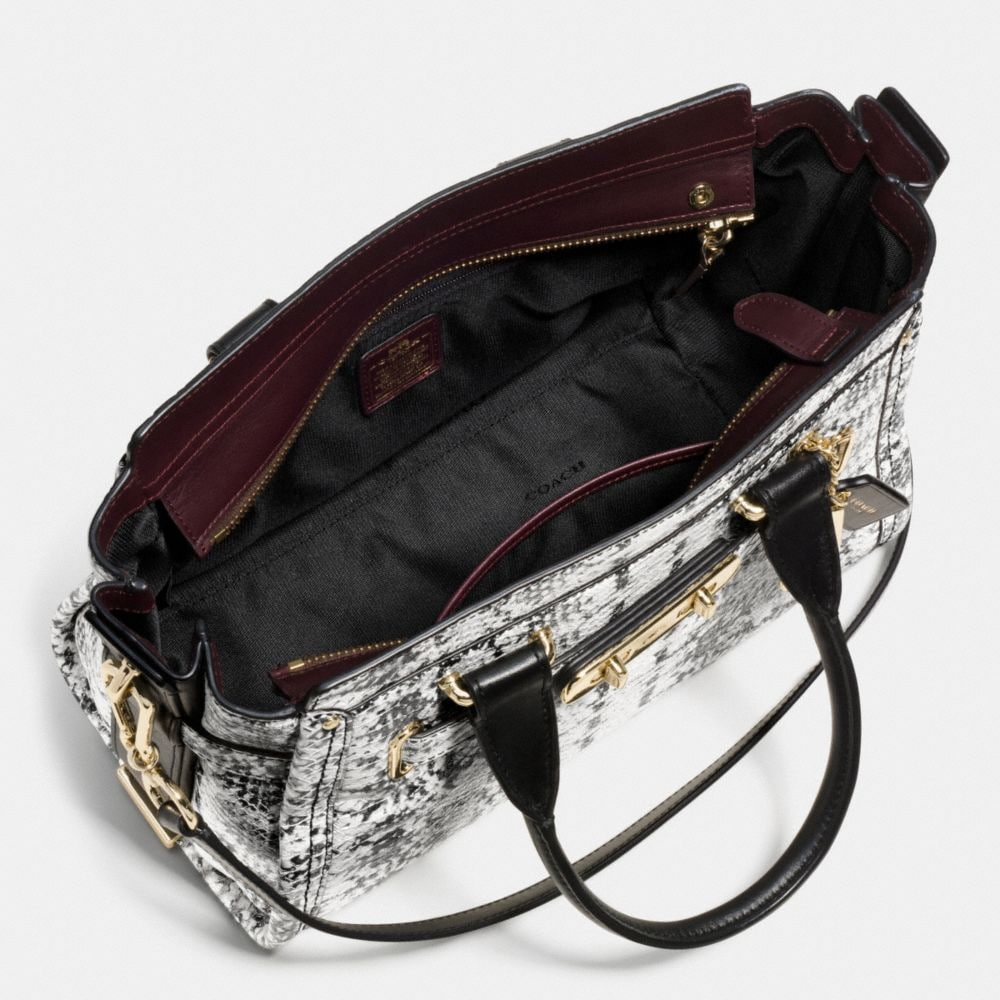 Coach Swagger 27 in Colorblock Exotic Embossed Leather - Alternate View A3