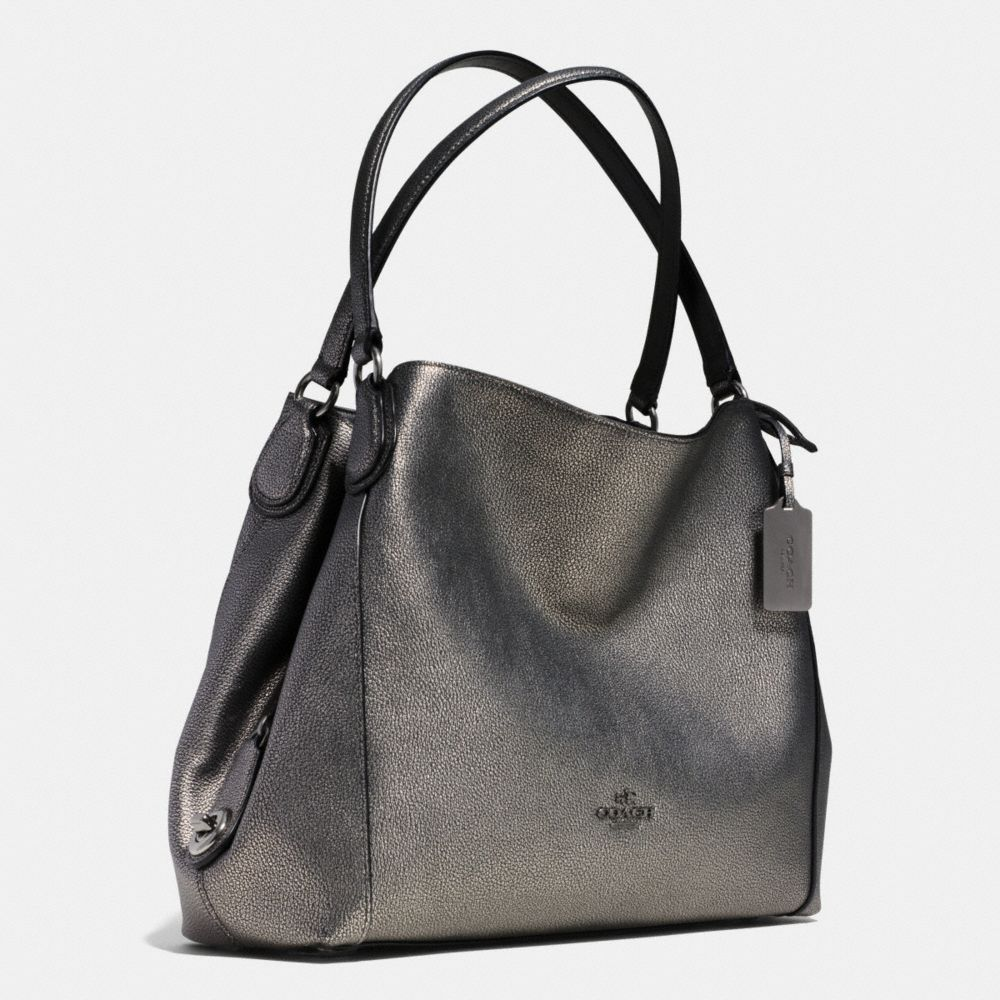 Edie Shoulder Bag 31 in Metallic Pebble Leather - Autres affichages A2
