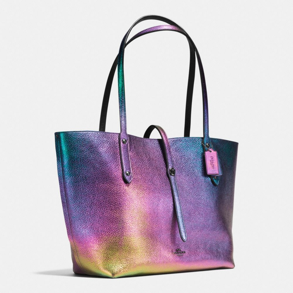 MARKET TOTE IN HOLOGRAM LEATHER - Alternate View A2