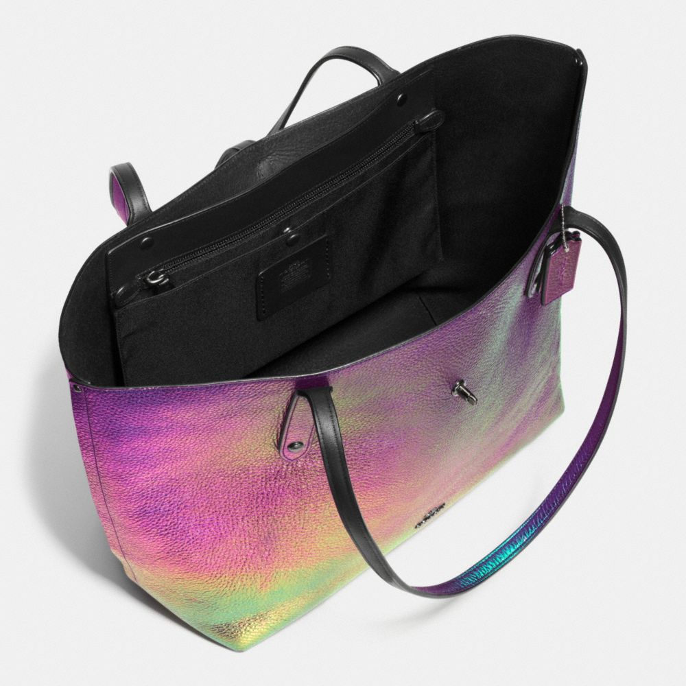 Market Tote in Hologram Leather - Autres affichages A3