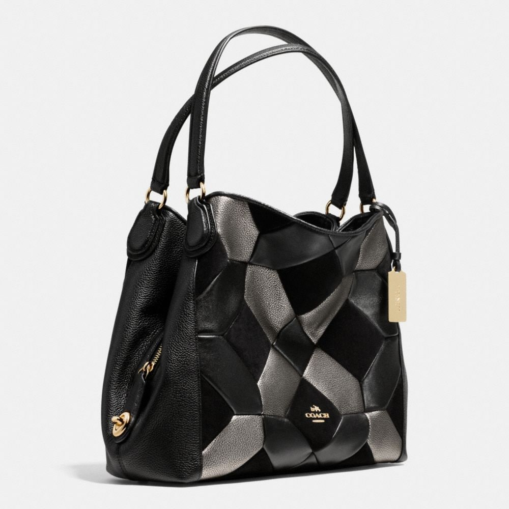 EDIE SHOULDER BAG 31 IN PATCHWORK LEATHER - Alternate View A2