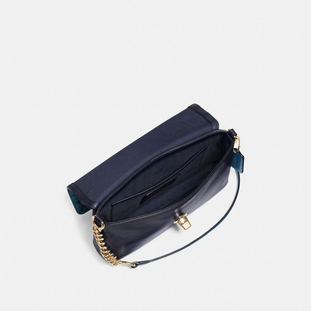 CROSSTOWN CROSSBODY IN COLORBLOCK EXOTIC EMBOSSED LEATHER - Alternate View A1
