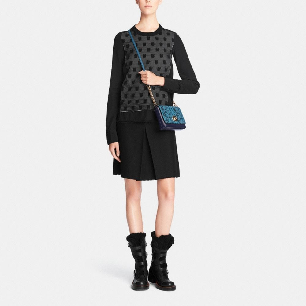 Crosstown Crossbody in Colorblock Exotic Embossed Leather - Autres affichages M1