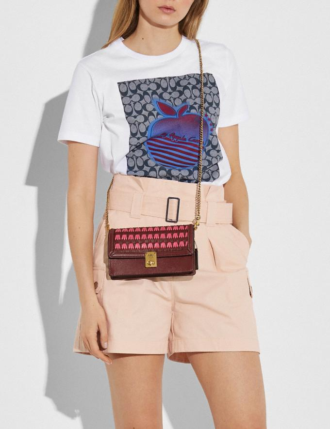 Coach Hutton Clutch Mit Webdetails B4/Konfetti Pink Multi Damen Taschen Clutches Alternative Ansicht 3
