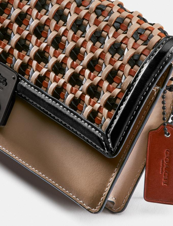 Coach Hutton Clutch With Weaving V5/Black Multi Women Collection Hutton Alternate View 4