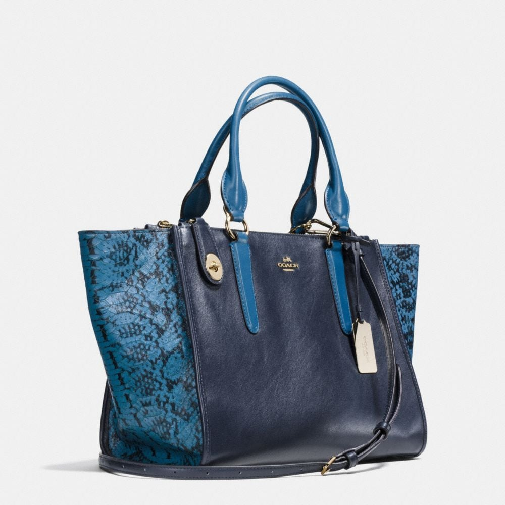 CROSBY CARRYALL IN COLORBLOCK EXOTIC EMBOSSED LEATHER - Alternate View A2