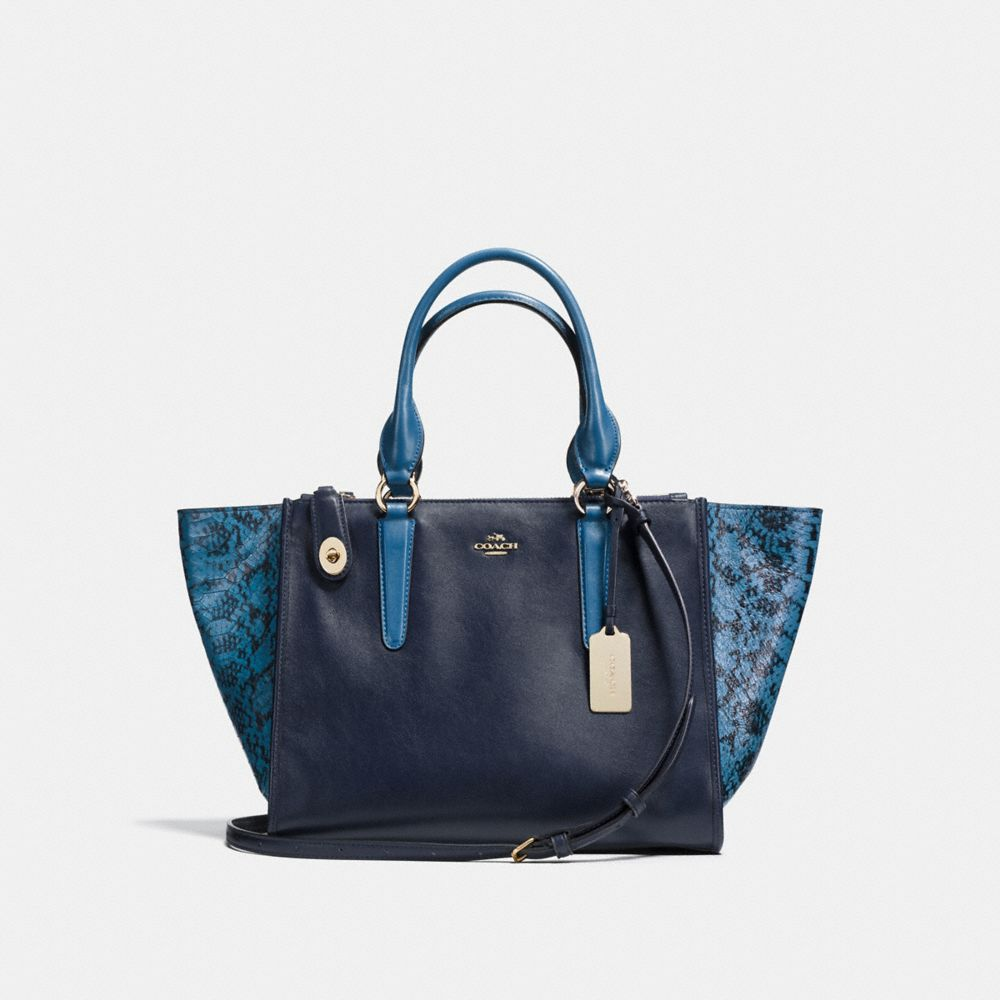 Crosby Carryall in Colorblock Exotic Embossed Leather