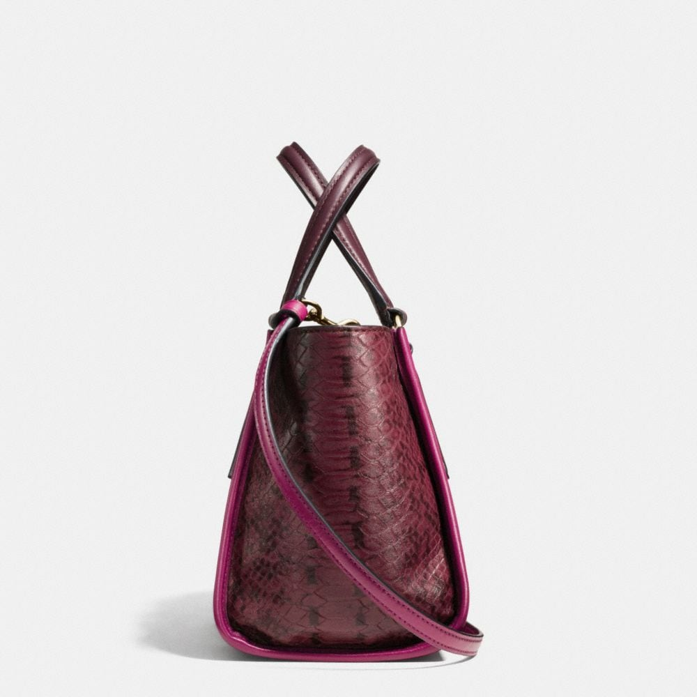 Crosby Mini Carryall in Colorblock Exotic Embossed Leather - Alternate View A1