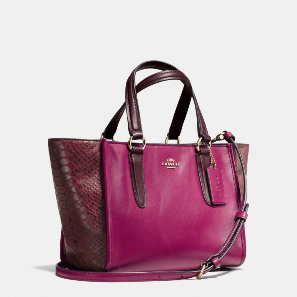 Crosby Mini Carryall in Colorblock Exotic Embossed Leather - Alternate View A2