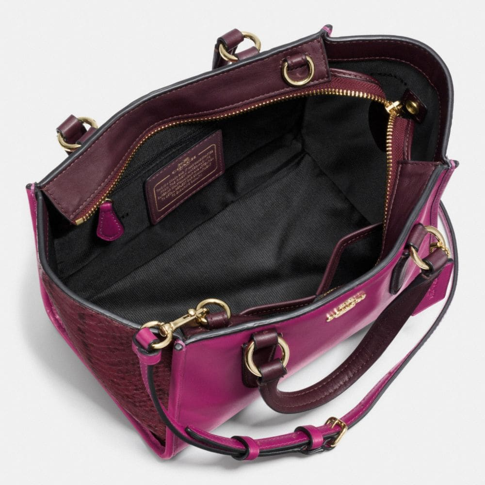 Crosby Mini Carryall in Colorblock Exotic Embossed Leather - Alternate View A3