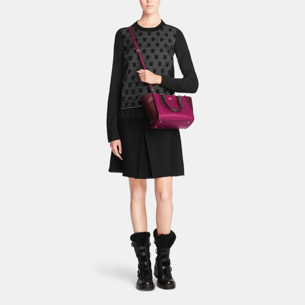 Crosby Mini Carryall in Colorblock Exotic Embossed Leather - Alternate View M