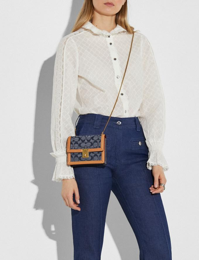 Coach Hutton Belt Bag in Signature Chambray B4/Chambray Women Bags Belt Bags Alternate View 4