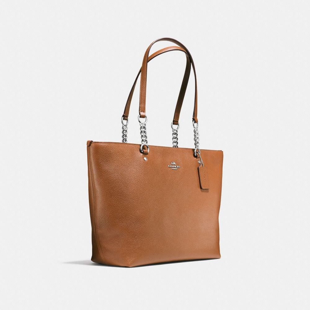 SOPHIA TOTE IN PEBBLE LEATHER - Alternate View A2